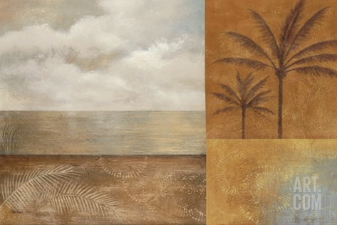 Golden Paradise II Stretched Canvas Print