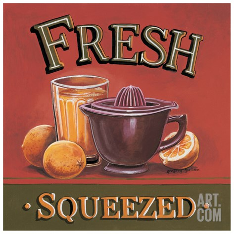Fresh Squeezed Stretched Canvas Print