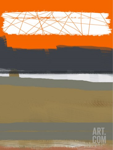 Abstract Orange 1 Stretched Canvas Print