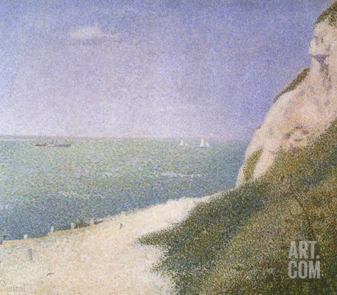 Strand of Beach, 1886 Stretched Canvas Print