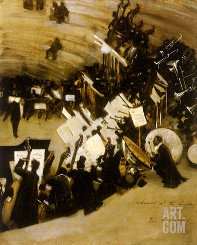 Rehearsal of the Pasdeloup Orchestra at the Cirque D' Hiver, 1876 Stretched Canvas Print