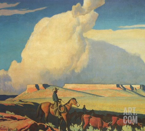 Open Range, 1942 Stretched Canvas Print