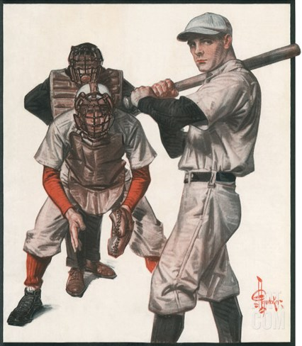 Baseball, 1915 Stretched Canvas Print