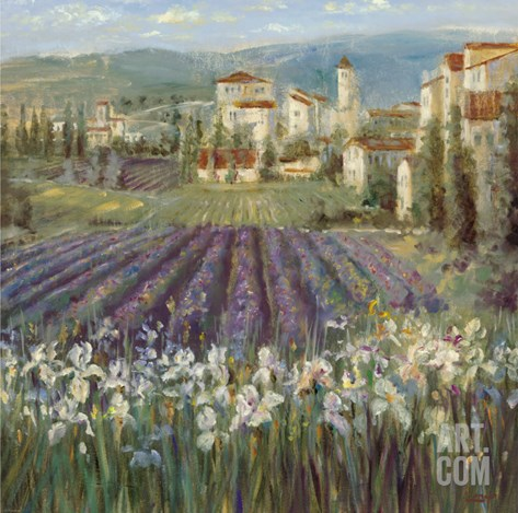 Provencal Village Stretched Canvas Print