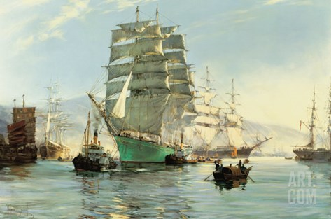 The Thermopylae Leaving Foochow Stretched Canvas Print