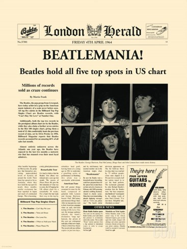 Beatlemania! Stretched Canvas Print
