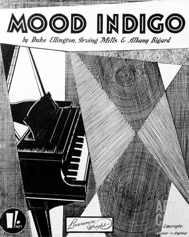Mood Indigo Score Cover by Duke Ellington, Irving Mills and Albany Bigard Stretched Canvas Print