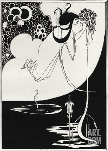 ' The Climax ' - Aubrey Beardsley 's illustration for 'salome ' by Oscar Wilde Stretched Canvas Print