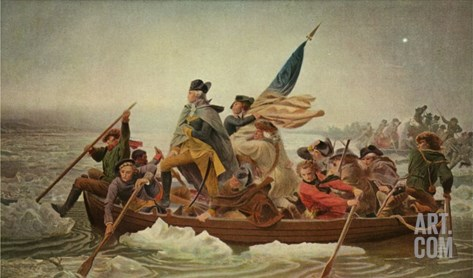 Washington Crossing the Delaware, after a painting by Emanuel Leutze, 1851 Stretched Canvas Print