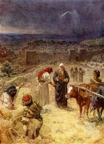 King David purchasing the threshing floor of Araunah the Jebusite, 2 Samuel 24 : 24 -25 Stretched Canvas Print