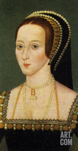 Anne Boleyn portrait (1507 - 1536) Stretched Canvas Print