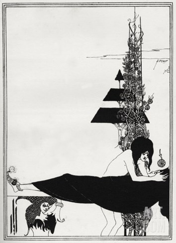 ' A Platonic Lament ' - Aubrey Beardsley 's illustration for 'salome ' by Oscar Wilde Stretched Canvas Print