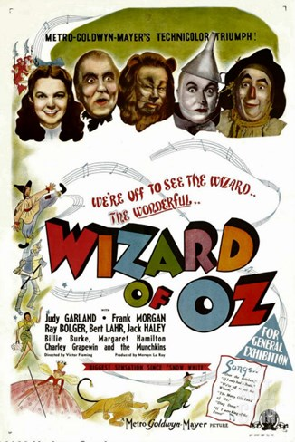 The Wizard of Oz, Judy Garland, Frank Morgan, 1939 Stretched Canvas Print