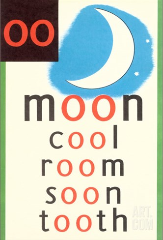 OO in Moon Stretched Canvas Print