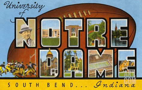 University of Notre Dame, South Bend, Indiana Stretched Canvas Print