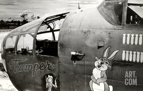 Nose Art, Thumper Stretched Canvas Print