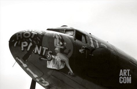 Nose Art, Hot Pants, Pin-up Stretched Canvas Print