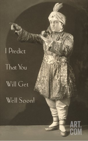 I Predict that You Will Get Well Soon, Magician Stretched Canvas Print