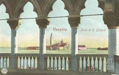 San Giorgio Island, Venice, Italy Stretched Canvas Print