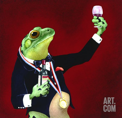 Sommelier Stretched Canvas Print