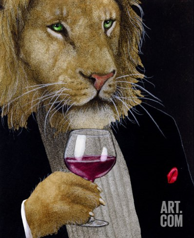 The Wine King Stretched Canvas Print