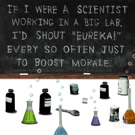 If I Were a Scientist Stretched Canvas Print