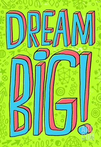 Dream Big Stretched Canvas Print