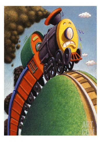 Little Engine that Could Stretched Canvas Print