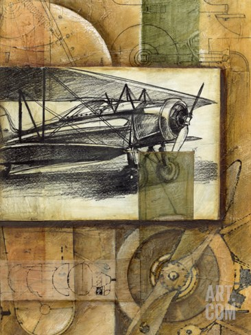 Theory of Flight I Stretched Canvas Print