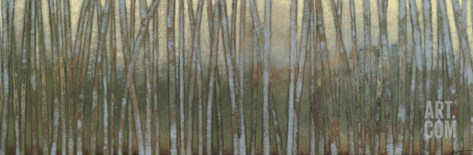 Blue Birch Forest I Stretched Canvas Print