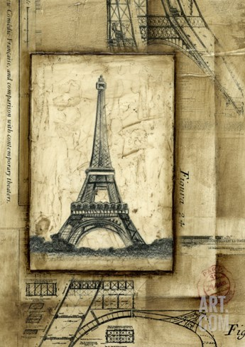Passport to Eiffel Stretched Canvas Print