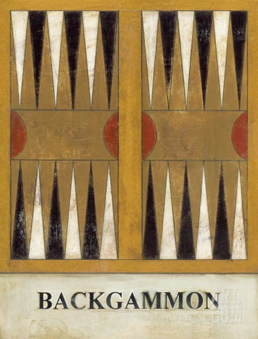 Backgammon Stretched Canvas Print