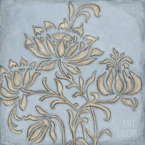 Silver Filigree VI Stretched Canvas Print