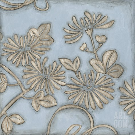 Silver Filigree IV Stretched Canvas Print