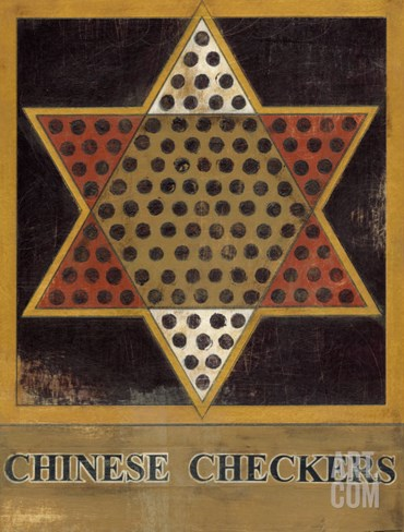 Chinese Checkers Stretched Canvas Print