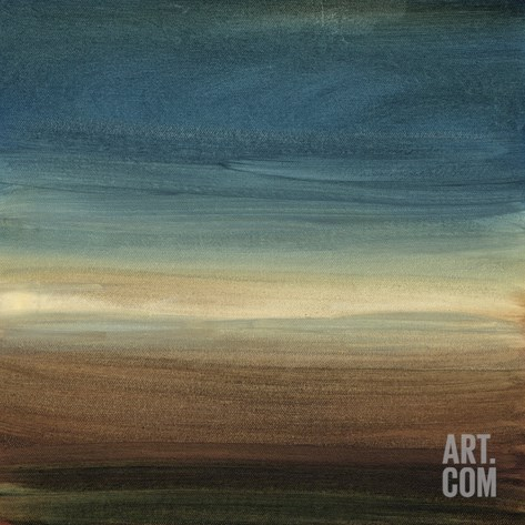 Abstract Horizon IV Stretched Canvas Print