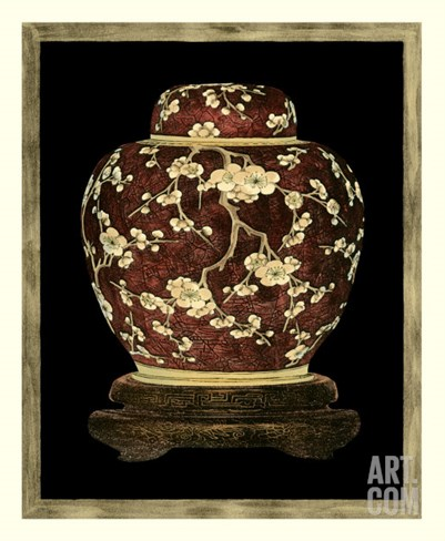 Printed Ginger Jar II Stretched Canvas Print