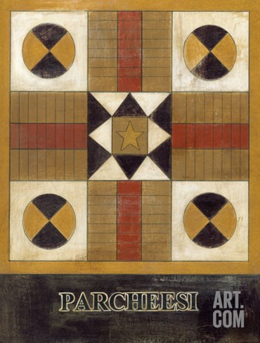Parcheesi Stretched Canvas Print