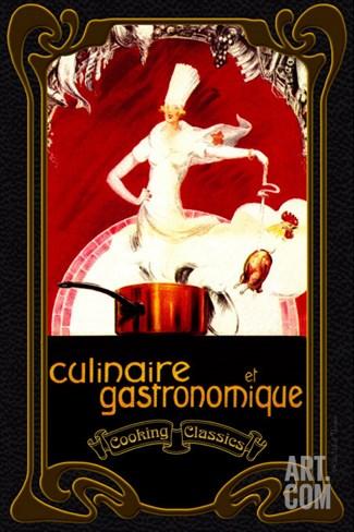 Culinaire et Gastronomique Stretched Canvas Print