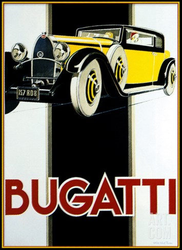Bugatti Stretched Canvas Print