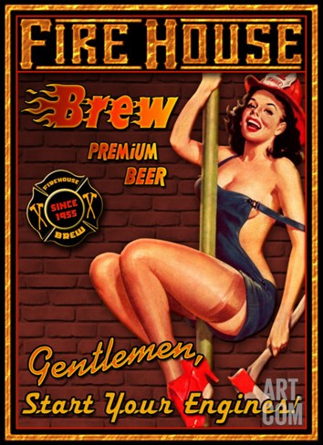 Fire House Brew Stretched Canvas Print