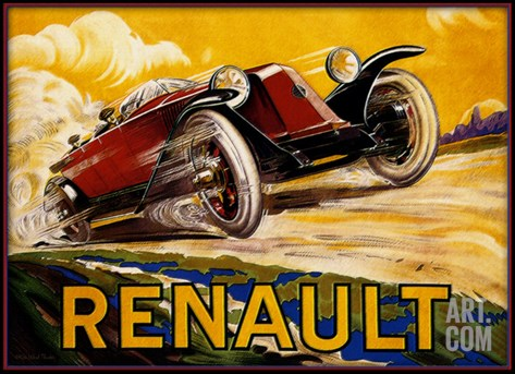 Renault Stretched Canvas Print