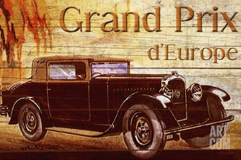 Grend Prix d'Europe Stretched Canvas Print