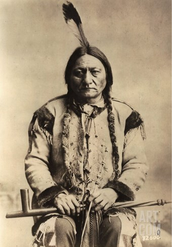 Sitting Bull (Tatanka Iyotake) 1831-90 Teton Sioux Indian Chief Stretched Canvas Print