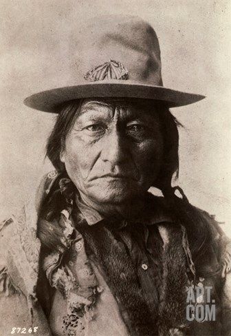 Sitting Bull (Tatanka Iyotake) 1831-1890 Teton Sioux Indian Chief Stretched Canvas Print