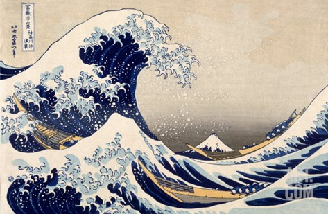 The Great Wave off Kanazawa from from the Series '36 Views of Mt. Fuji', Hokusai, Katsushika Stretched Canvas Print