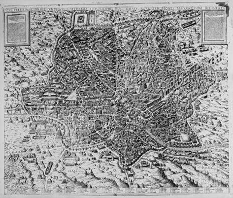 Map of Rome, 1579 Stretched Canvas Print
