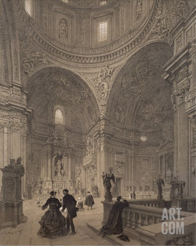 Chapel of St. Ignatius of Loyola, Chiesa Del Gesu, Illustration from Album 'Rome Dans Sa Grandeur' Stretched Canvas Print