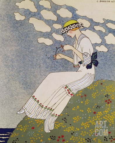 N'en Dites Rien, from the Gazette du Bon Ton No. 10, 1913 Stretched Canvas Print