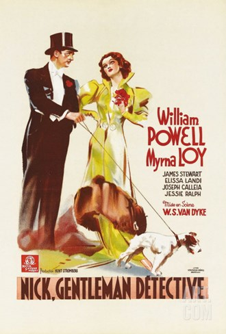 After the Thin Man, German Movie Poster, 1936 Stretched Canvas Print